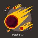 meteor, meteor rain, rain, space, universe icon