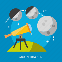 moon, moon tracker, space, tracker, universe icon
