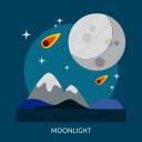 light, moon, moonlight, space, universe