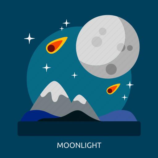 light, moon, moonlight, space, universe icon