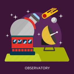 astronomy, observatory, science, space, telescope icon