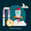 launch, rocket, rocket launch, space, universe icon