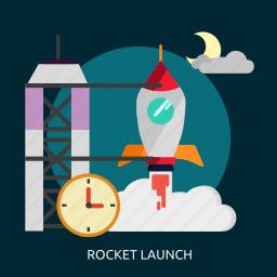 launch, rocket, rocket launch, space, universe icon