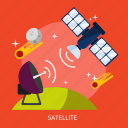 communication, network, satellite, technology, universe icon