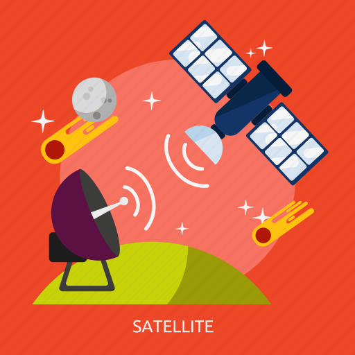 communication, network, satellite, technology, universe icon