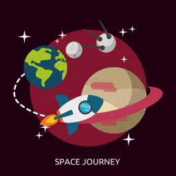 journey, space journey, universe icon