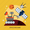machine, space machine, universe icon