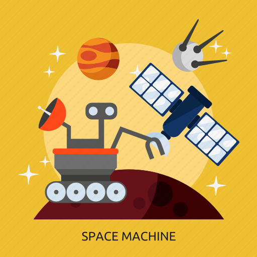 machine, space machine, universe icon