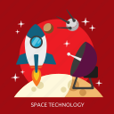 space technology, technology, universe icon