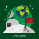 colony, space, spacecolony, universe icon