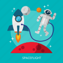 flight, space, spaceflight, universe icon