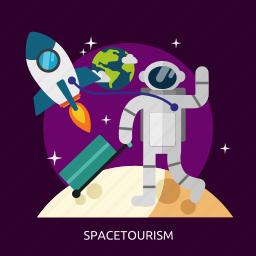 space, spacetourism, tourism, universe icon