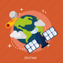 exploration, orbit, satellite, sputnik, universe icon