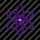atom, galaxy, research, science, universe