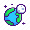 earth, globe, moon, world