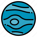 galaxy, neptune, planet, space icon