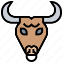 animal, buffalo, bull, corrida, spain icon