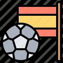 ball, flag, football, spain, sport icon