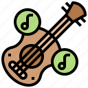 acoustic, guitar, instrument, music, spain icon