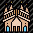 architecture, building, landmark, sagrada, spain icon