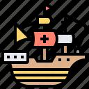 boat, harbour, ship, spanish, transport icon