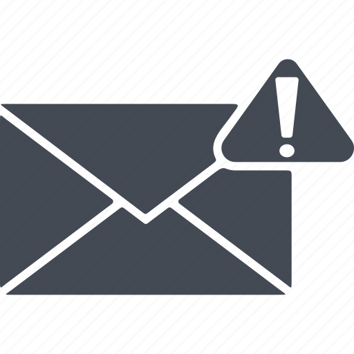 e-mail, exclamation point, hacker, internet, security, spam, virus icon