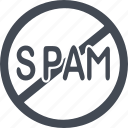 e-mail, hacker, internet, prohibition signs, security, spam, virus icon