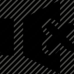 music, mute, sound, speaker, volume icon