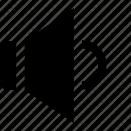 music, sound, speaker, volume, volume down icon