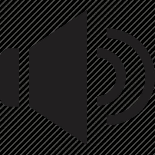 music, sound, speaker, volume, volume up icon