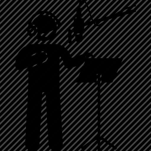 artist, recording, room, singing, studio, voice, voice over icon
