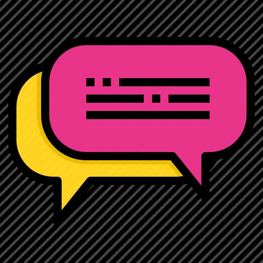 bubble, chat, communication, conversation, message, speech icon