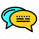 bubble, chat, communication, conversation, message, speech icon