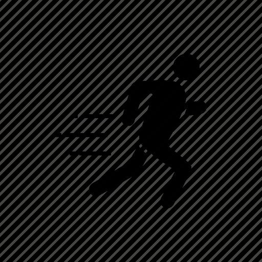 fast, human, man, person, run, runner, running icon