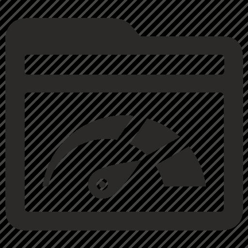 catalog, folder, level, motion, speed, statistics icon