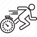 fast, race, running, speed