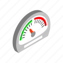 car, green, isometric, meter, power, speed, speedometer