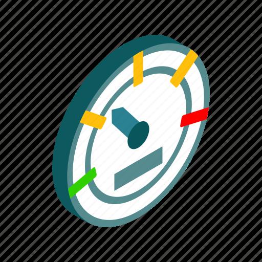car, green, isometric, meter, power, speed, speedometer icon