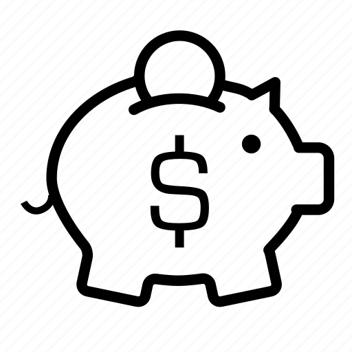 bank account, financial security, investment, money, piggy bank, retirement, savings icon