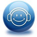 audio, headphones, listen, media, music, smile icon