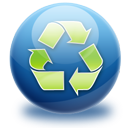 green, recycle icon