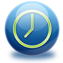 gloss, sphere, time icon