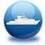 sea, ship, travel icon