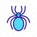 contour, insect, spider, web icon