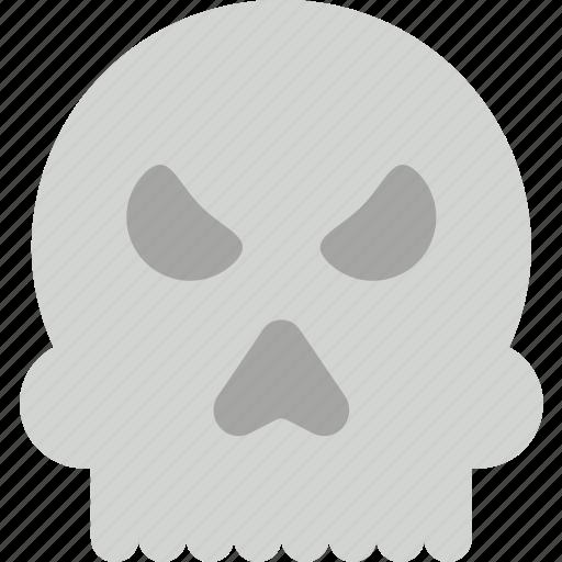 creepy, halloween, scary, skull, spooky icon