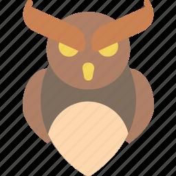 creepy, halloween, owl, scary, spooky icon