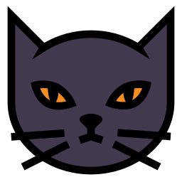 animal, blackcat, evil, halloween, kitten, spooky icon