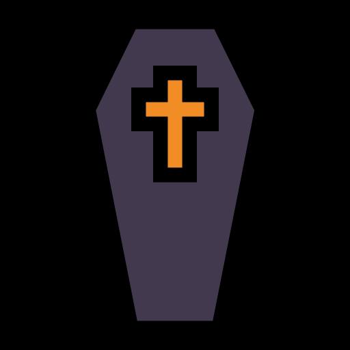 coffin, cross, death, vampire icon