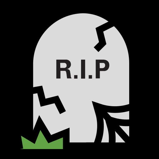 death, grave, halloween, rip, stone, tombstone icon