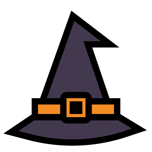 halloween, hat, spooky, witch, wizard icon